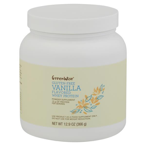GreenWise Whey Protein, Gluten-Free, Vanilla Flavor