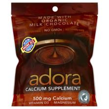 Adora Calcium, 500 mg, Disks, Milk Chocolate