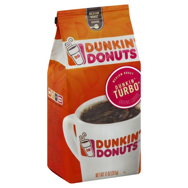 photograph relating to Dunkin Donuts Coffee Printable Coupons identify Dunkin Donuts Espresso, Floor, Medium Roast, Dunkin Turbo