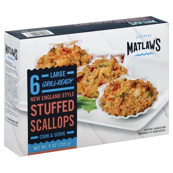 Matlaws Stuffed Scallops, New England Style, Large
