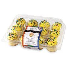 Mini Vanilla Cupcakes Back to School