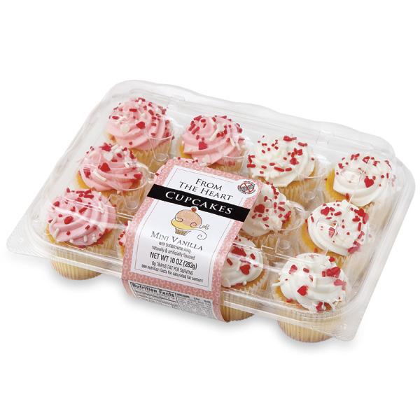 Mini Valentine Vanilla Cupcakes Publix