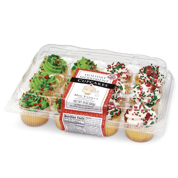 Publix Bakery Mini Vanilla Christmas Cupcakes
