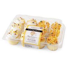 Mini Vanilla Fall Cupcakes