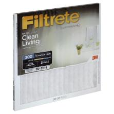 Filtrete Clean Living Air Cleaning Filter, Electrostatic, Basic Dust, 20 x 20 x 1