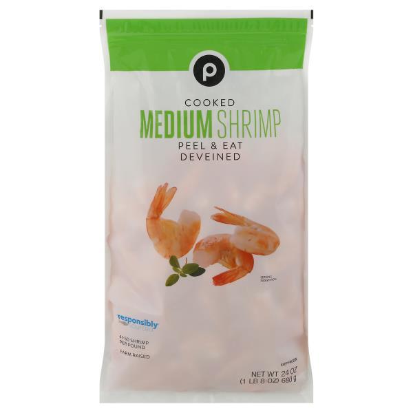 Publix Cooked Shrimp, Peel & Eat, 41-50 Shrimp/Lb, Frozen, Farmed