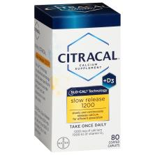 Citracal Calcium + D3, Slow Release 1200, Coated Caplets