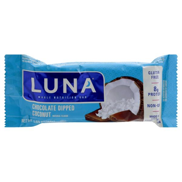 Luna Nutrition Bar, Whole, Chocolate Dipped Coconut