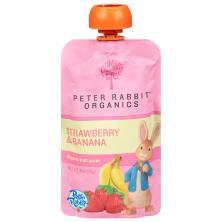 Pumpkin Tree Peter Rabbit Organics Fruit Puree, Organic, Strawberry & Banana