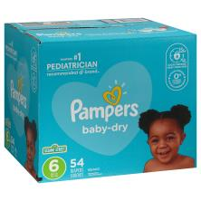 Pampers Diapers, Size 6 (35+ lb), Sesame Street, Super