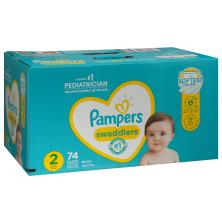 Pampers Swaddlers Diapers, Size 2 (12-18 lb), Blankie Soft Heart Quilts, Super Pack