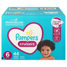 Pampers Cruisers Diapers, Size 6 (35+ lbs), Super Pack