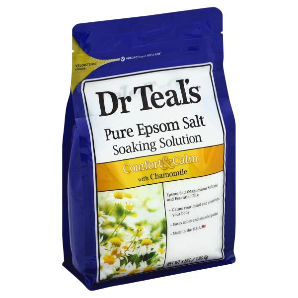 Dr Teals Soaking Solution, Pure Epsom Salt, Comfort & Calm, with Chamomile