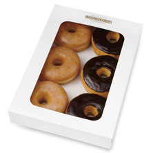 Assorted Glazed and Chocolate Iced Donuts 6-Count
