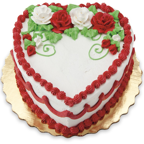 8 In Vanilla Double Layer Heart Shaped Cake Publixcom