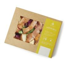 Aprons Campfire Chicken Meal, with Stir Fry Blend and Sausage,Grill or Bake, Serves 1