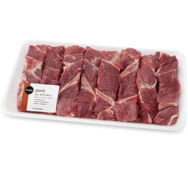 Publix Pork Shoulder Country-Style Ribs, Bone-In, 3 Lbs Or