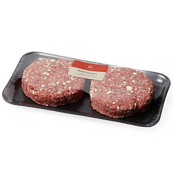 Aprons Gourmet Burger, Blue Cheese, Prepared Fresh In-Store
