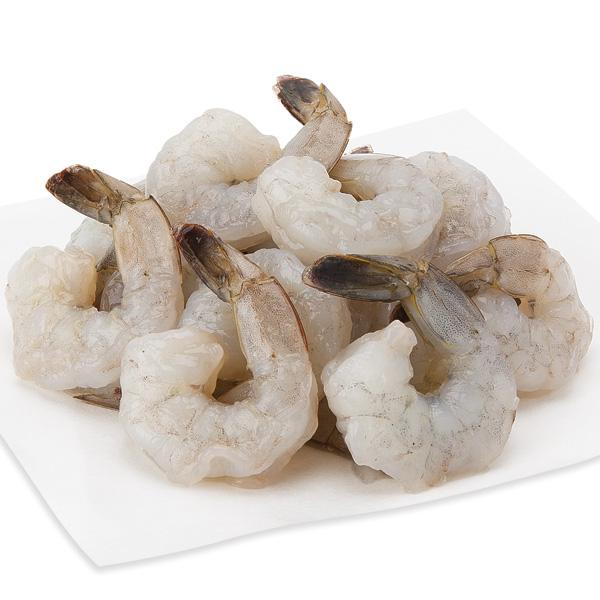 White Shrimp, Large Peeled & Deveined, 31-40 Shrimp/Lb Previously Frozen, Farmed
