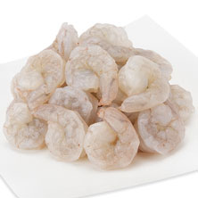 White Shrimp, Medium, Peeled & Deveined, 51-60 Shrimp/Lb Previously Frozen, Farmed