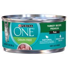 Purina One Grain Free Cat Food, Wet, Turkey Recipe Premium