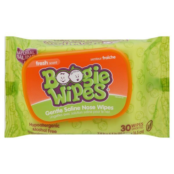 Boogie Wipes Saline Wipes, Fresh Scent
