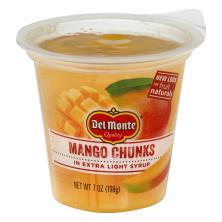 Del Monte Fruit Naturals Mango, Chunks, in Extra Light Syrup