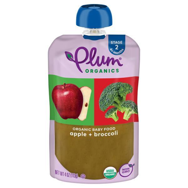 Plum Organics Baby Food, Apple & Broccoli, 2 (6 Months & Up)