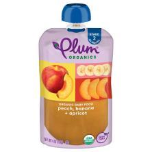 Plum Organics Baby Food, Organic, Peach, Banana & Apricot, 2 (6 Months & Up)
