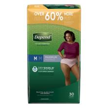 Depend Underwear for Women, Fit-Flex, Maximum Absorbency, S/M, Value Pack