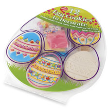 Egg Shaped Cookie Kit 12 Ct