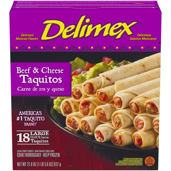 Delimex Taquitos, Flour, Beef & Cheese