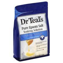 Dr Teals Soaking Solution, Pure Epsom Salt, Soften & Nourish, with Milk & Honey