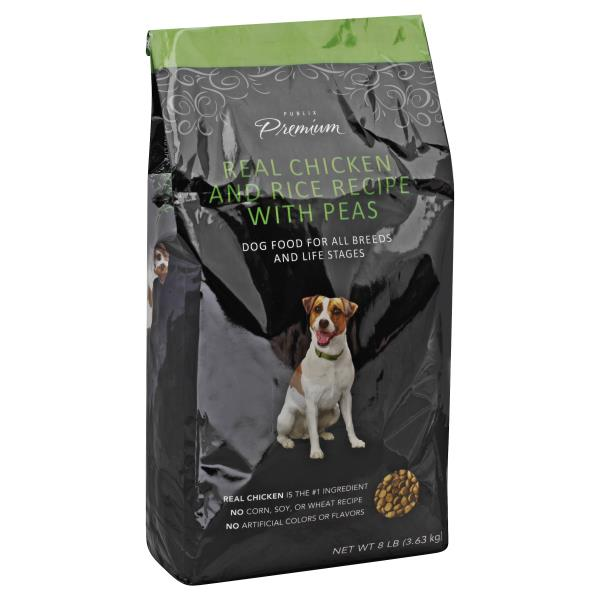 Publix Premium Dog Food Real Chicken And Rice Recipe With Peas