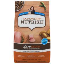 Rachael Ray Nutrish Zero Grain Food for Dogs, Grain Free, Turkey & Potato Recipe