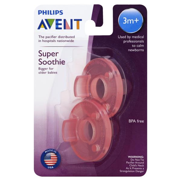 Avent Pacifiers, Super Soothie, 3 Months+