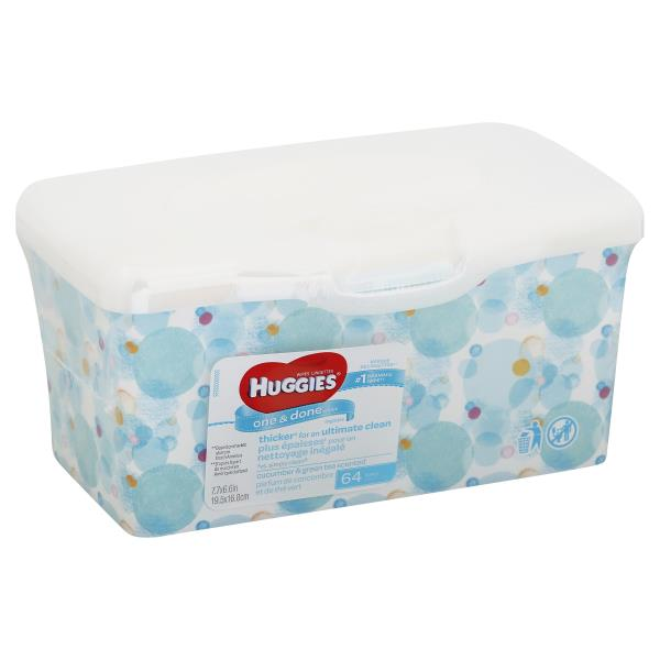 Huggies One & Done Wipes, Cucumber & Green Tea Scented
