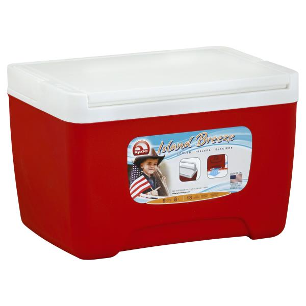 Igloo Island Breeze Cooler, Red, 9 Quarts