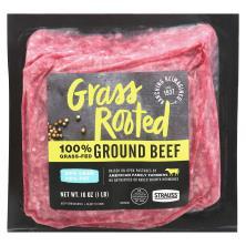 Strauss Free Raised Beef, Grass Fed, Ground, 85% Lean/15% Fat