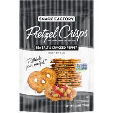 Pretzel Crisps Deli Style Pretzel Crackers, Thin, Crunchy, Sea Salt & Cracked Pepper