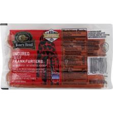 Boars Head Frankfurters, Beef, Skinless