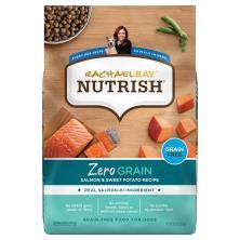 Rachael Ray Nutrish Zero Grain Food for Dogs, Grain Free, Salmon & Sweet Potato Recipe