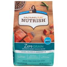 Rachael Ray Nutrish Zero Grain Food for Dogs, Natural, Grain Free, Salmon & Sweet Potato Recipe