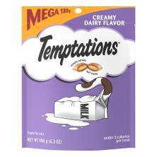 Temptations Whiskas Treat for Cats, Creamy Dairy Flavor