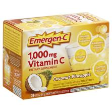 Emergen C Vitamin C, 1,000 mg, Coconut-Pineapple