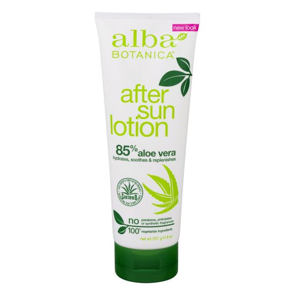 Alba Botanica Very Emollient After Sun Lotion, 85% Aloe Vera
