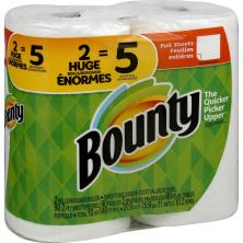 Bounty Paper Towels, Huge Rolls, Full Sheets, White, 2 Ply