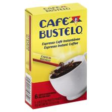 Cafe Bustelo Coffee, Instant, Espresso, Single Serve Packets