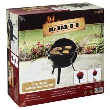 Mr Bar B Q Charcoal Grill, Portable, Round, 14 Inch