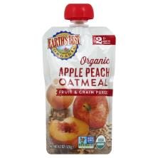 Earths Best Organic Fruit & Grain Puree, Apple Peach Oatmeal, 2 (Over 6 Months)